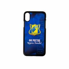 Чехол IPHONE X (черный, Гордость Ростова логотип)