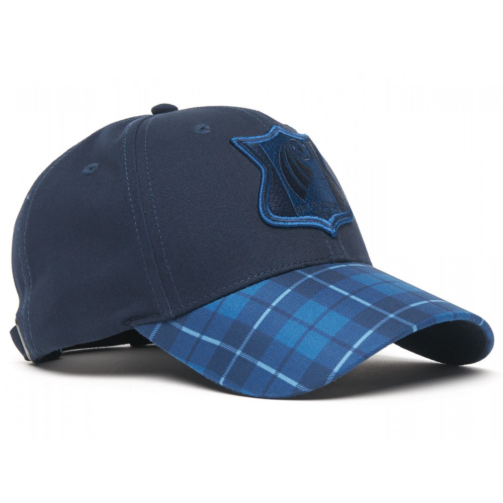 Бейсболка 41036 р-р 55-58 Синий /Клетка Логотип