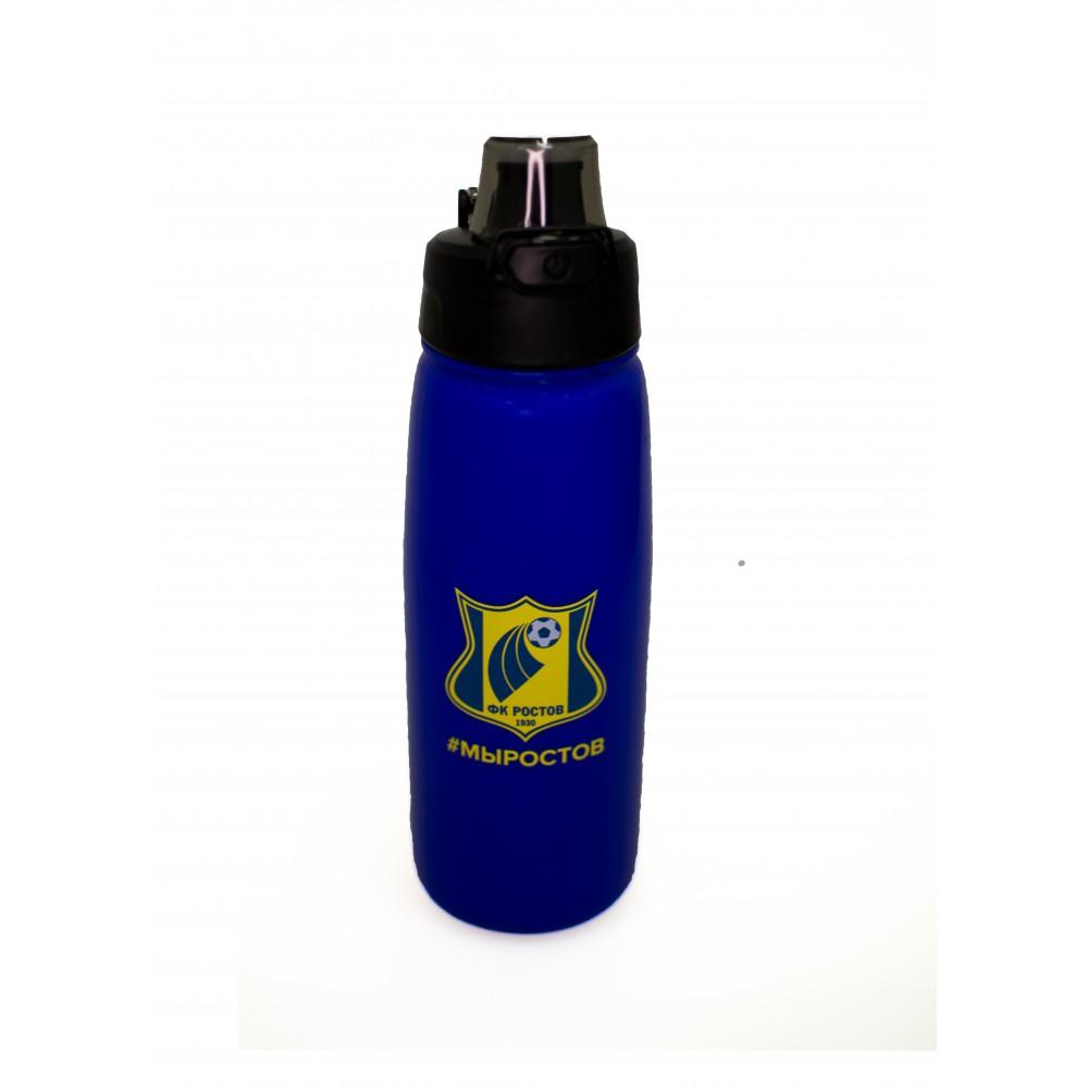 Бутылка для воды 0,75 л. синяя с кнопкой